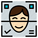 ai, artificial, facial, intelligence, reno icon