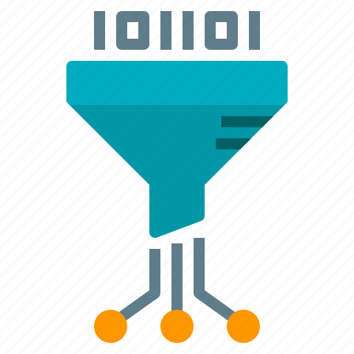 ai, artificial, filter, funnel, intelligence icon