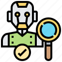 android, checking, diagnosis, repair, search icon
