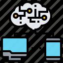 communication, creative, intelligence, technology icon