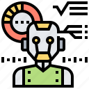 calculation, chart, diagnostic, robot icon