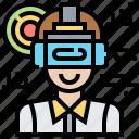 reality, robot, simulation, virtual icon