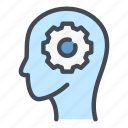 ai, android, artificial, gear, intelligence, robot, technology icon