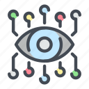ai, connection, data, eye, link, network, vision icon