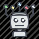 ai, artificial, electronics, intelligence, machine, robot, technology icon