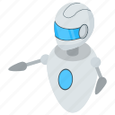 android, artificial intelligence, bionic man, humanoid, robot technology icon