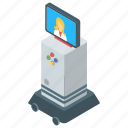 android, artificial intelligence, bionic man, humanoid, monitor head robot, robot technology icon