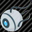 iris, mechanical eye, mechanical robot eye, monitoring eye, security camera, surveillance eye icon