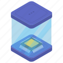 central processing unit, computer chip, computer microprocessor, cpu chip, microchip, microprocessor icon
