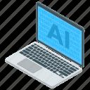 ai software, artificial intelligence, computer app, machine intelligence, super intelligence icon