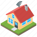 dwelling, residence, shack, smart home, smart house icon