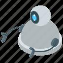 artificial intelligence, bionic man, electronic robot, operating robot, robot technology icon