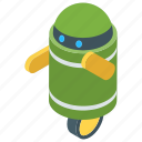 android, artificial intelligence, bionic man, electronic home robot, humanoid, robot technology icon