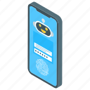 digital security, mobile code, mobile passcode, mobile password security, smartphone lock icon