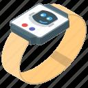 android smartwatch, digital watch, fitness watch, smart wrist watch, wearable technology icon