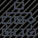 algorithm, structure, tree icon