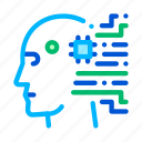 artificial, cyborg, intelligence icon