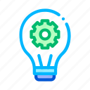 artificial, bulb, intelligence, learning, light, machine icon