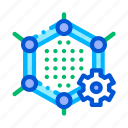 artificial, graphene, technology icon icon