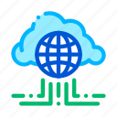 cloud, global, internet, networking icon icon