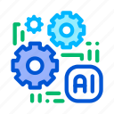 artificial, chip, intelligence icon icon