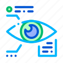 biometric, data, eye, information icon icon
