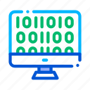 artificial, binary, code, intelligence icon icon