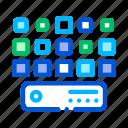 artificial, big, center, data, networking icon icon