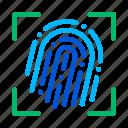 dactylogram, fingerprint, scanner icon