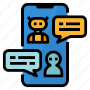 ai, artificial, chatbot, conversation icon