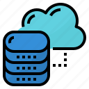 cloud, data, servers, storage icon