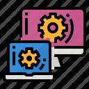 computer, computing, platform, technology icon