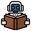 algorithms, learning, machine, technology icon