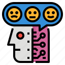 ai, analysis, quantify, sentiment icon