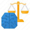 ai, artificial, intelligence, law icon