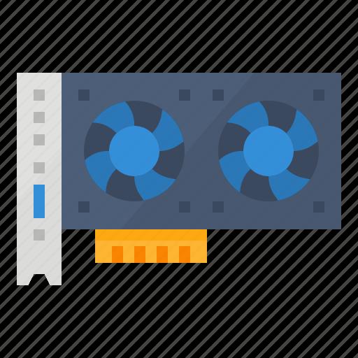 gpu, graphics, processing, unit icon