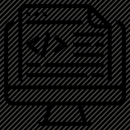 ai, application, coding, programming icon