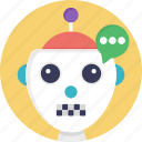 artificial conversational entity, bot, chat bot, chatbot, dialog system, im bot, talkboat icon