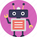 android, artificial intelligence, bionic man, humanoid, robot icon