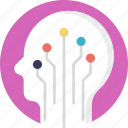 artificial brain, artificial intelligence, digital brain, intelligence, neural network icon