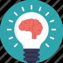 artificial intelligence, creative idea, creative mind, idea, mind bulb icon