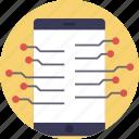 digital phone, mobile computing, mobile innovation, mobile network, mobile technology icon