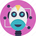 android, artificial intelligence, bionic man, futuristic robot, humanoid icon