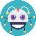 cartoon robot, cute robot, robot, robot characteristic, smiling robot icon