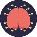 artificial brain, artificial intelligence, deep learning, intelligence, neural network icon