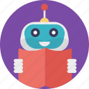 education robot, robot in school, robot teacher, robot technology, robotic educator icon