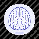 2, ai, artificial, brain, chip, circuit, computing, core, cpu, intelligence, network, neural, node icon