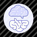 ai, artificial, brain, chip, circuit, communicate, communication, intelligence, network, neural icon