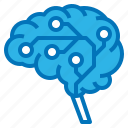 ai, artificial, brain, circuit, intelligence icon