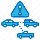 ai, artificial, avoidance, collision, intelligence, warning icon